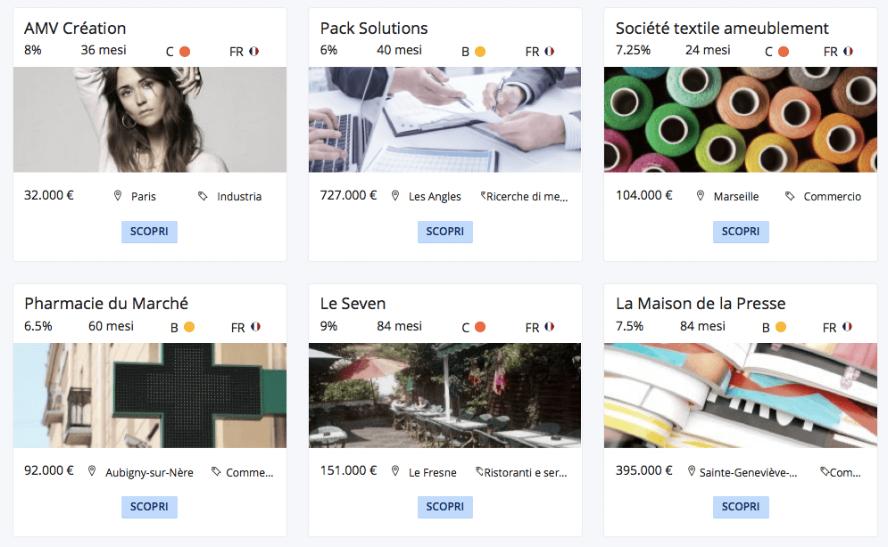 Alcuni progetti Lendix in Italia e Francia