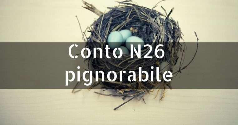 Conto N26 pignorabile
