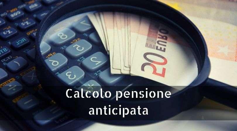 calcolo pensione anticipata
