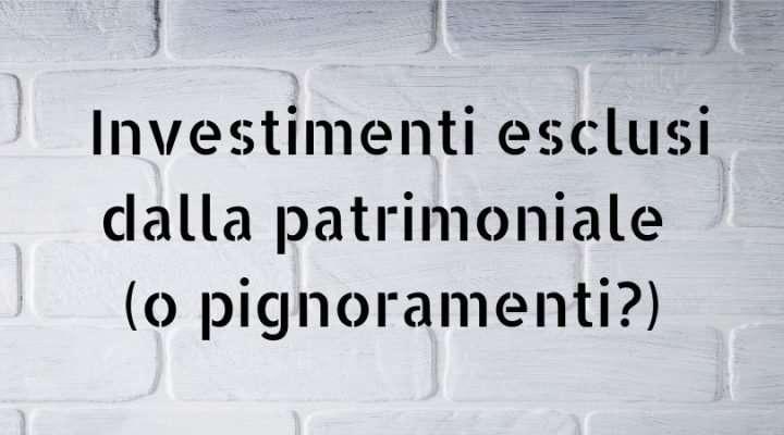 investimenti patrimoniale tassa