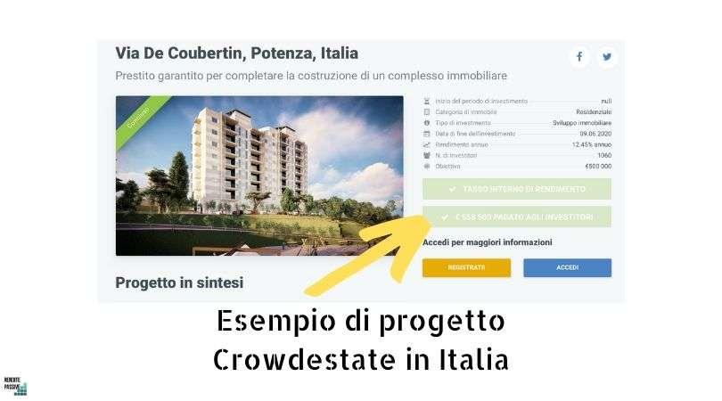 Esempio di progetto Crowdestate in Italia