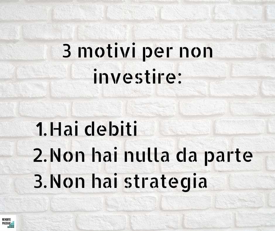 motivi per non investire