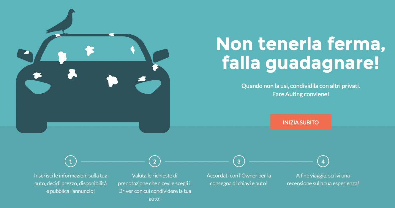 guadagnare online noleggiando auto