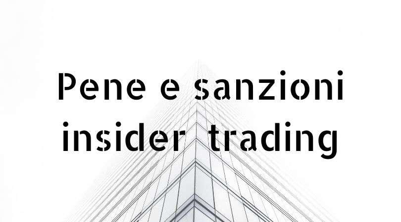 bene sanzioni  insider trading