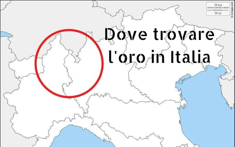dove trovare oro italia