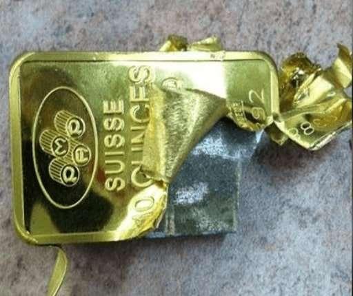 lingotto oro falso