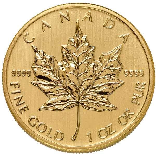 canadian maple leaf prezzo moneta