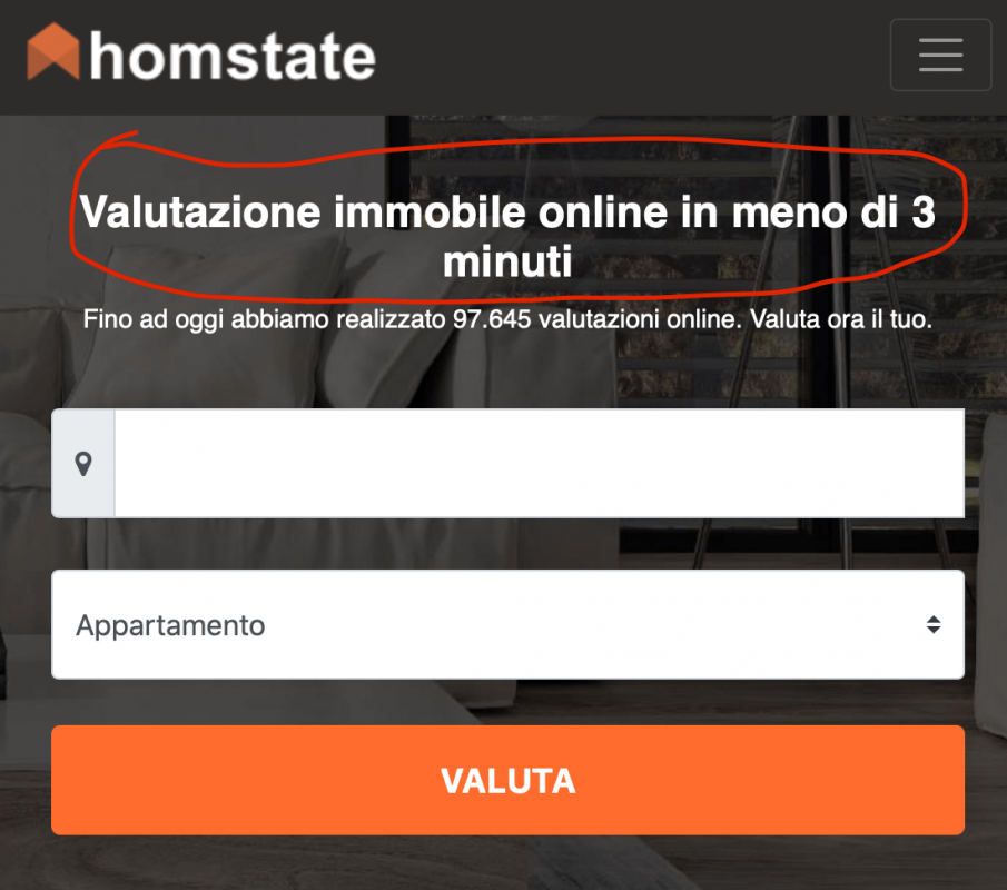 valutare casa homstate