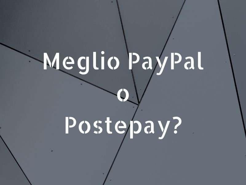 paypal o postepay