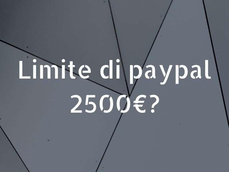 paypal 2500 1800 limite
