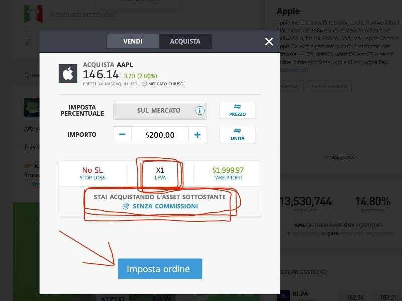 azioni apple trading italia ordine 2000 usd