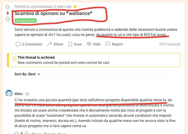 reddit discussione