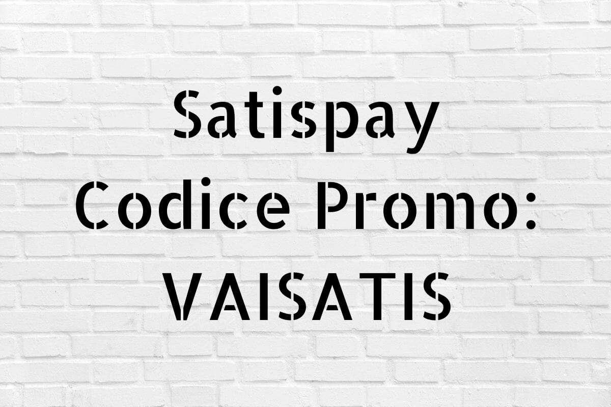 codice promo Satispay amico
