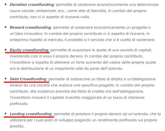 definizione crowdfunding