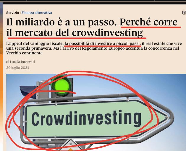 sole24ore crowdfunding immobiliare